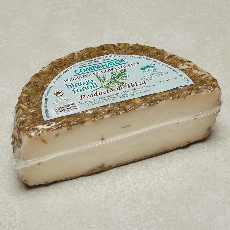 queso hinojo fonoll envasado